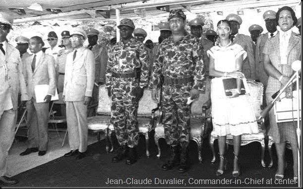 Jean-Claude Duvalier commandant en chef